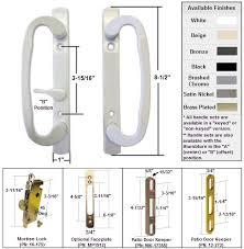 sliding glass patio door handle kit