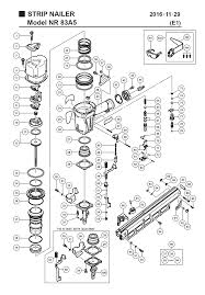 hitachi nr83a5 parts schematic