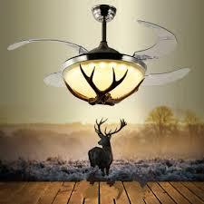 """42"""" Ceiling Fans Invisible <b>LED</b> Ceiling Fan Lamp <b>Modern Resin</b> Fan ..."""