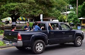 Taxi pickup - kids in a Toyota truck   Pago Pago American Sa…   Flickr