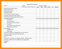 Daily Vehicle Safety Checklist Template Inspection Pdf