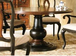 image of 54 round pedestal dining table
