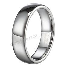 Tungsten Carbide Ring Size Chart 6mm Silver Tungsten Carbide Ring For Men Women Wedding Band