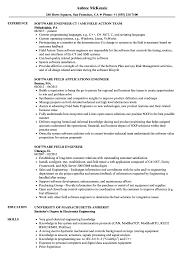Software Field Engineer Resume Samples | Velvet Jobs