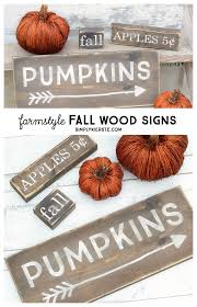 best diy crafts ideas these darling farmstyle wood fall signs