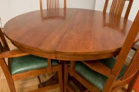 how to cut a rectangular oak table into a round table