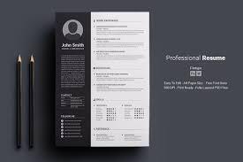 Professional Resumecv By Deviserpark On At Creativemarket Resumecv