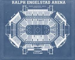 Vintage Print Of Ralph Engelstad Arena Seating Chart By