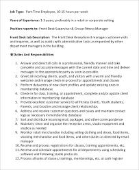 front desk receptionist job description