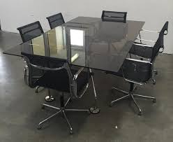 norman foster office. Norman Foster Nomas Tecno Office Boardroom Table With 8 Charles Eames ICF Chairs