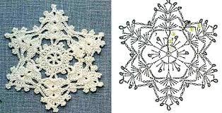 Картинки по запросу схема снежинки крючок