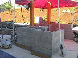kitchen islands using concrete block build your own bbq island diy frame kits outdoor kitchens steel