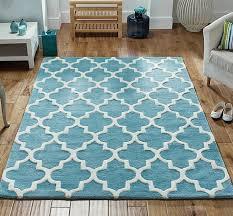 arabesque light teal rug