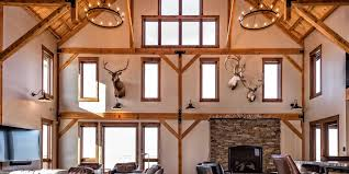 The interior of the house is a post and beam barn style structure configured to suit every need and want of the. Captivating Three Story Post And Beam Lodge Legacy Post Beam