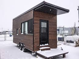 Small Picture A modern tiny house on wheels in Quebec Canada Designed built