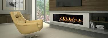 linear gas fireplace ventless natural
