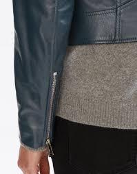womens biker belstaff mollison biker jacket spruce teal