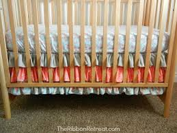 Crib Skirt Pattern Impressive Ruffled Crib Skirt Tutorial The Ribbon Retreat Blog