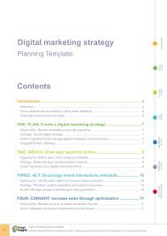 Digital Marketing Strategy Template Pages 1 14 Text