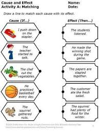 Casue And Effect Cause And Effect Activities Special Education Reading Comprehension