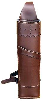 17 vinyl big rattler back quiver brown with fold over pocket