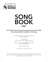 Rock It Barre Song Book One With Over 40 Public Domain