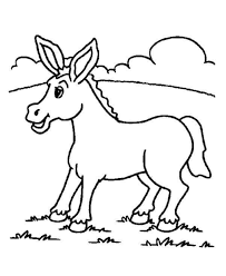 Small Picture Donkey Coloring Page Coloring Home