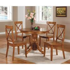 Wooden Round Kitchen Table Round Kitchen Table Sets With Classic Design Home Decorating