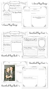 Wedding Guest Book Template Thumbprint Tree Template Friendship Ing Guest Book Baby Wedding Free