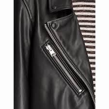 itemno 9io019z631 allsaints oversized leather biker jacket black