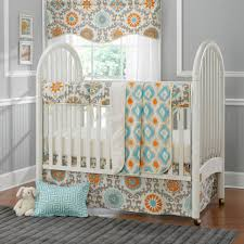 elegant mini crib bedding set with comfortable plain white mattress and portable white metal baby crib