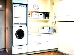 washer and dryer cabinets compact small laundry room design ideas stackable closet size