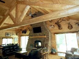 indoor outdoor fireplace rustic
