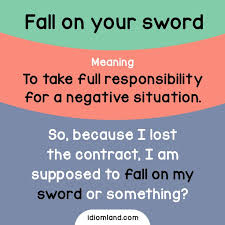 best english expressions i love images english idiom of the day fall on your sword repinned by chesapeake college adult ed