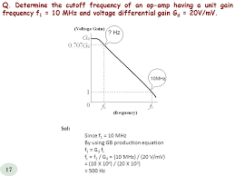 q determine the cutoff frequency of an op amp having a unit gain frequency