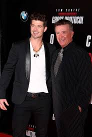alan thicke robin thicke side by side. Beautiful Side Robin Thicke Alan Thicke Posing For The Camera And  Attend On Side By A