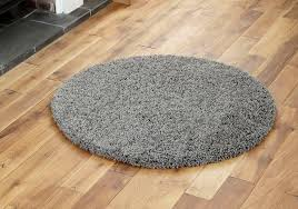 new small good quality dark grey anthracite soft 110cm gy circle round rugs