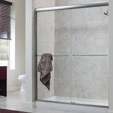 semi frameless bypass shower doors