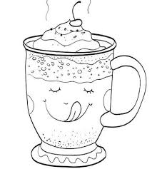 Small Picture Printable Winter Coloring Pages Chocolate topping Hot chocolate