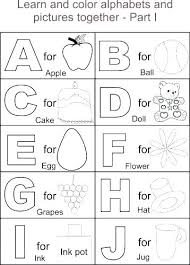 Alphabet Coloring Sheets Free Preschool Alphabet Coloring Pages Free