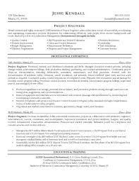 Project Engineer Resume Template Best Template Collection Sample New Project Engineer Resume
