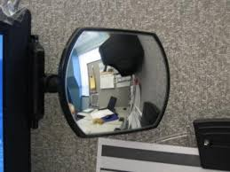 office desk mirror.  Desk Watch Your Back With A Rear View Cubicle Mirror Cubiclebliss Office  Desk Mirrors With Office Desk Mirror