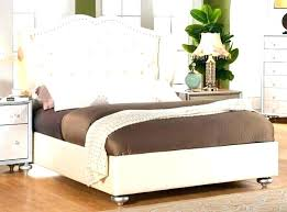 Beautiful White Tufted Bed Headboard Bedroom Set With Storage French ...