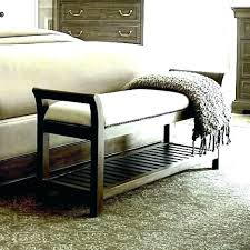 Wooden Bedroom Bench Wood Bed Benches White Outdoor Storage ...
