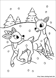 Small Picture Rudolph the Red Nosed Reindeer coloring picture Christmas