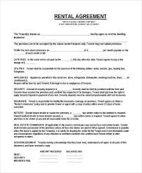 Free Printable Rental Agreement Mesmerizing Simple One Page Commercial Rental Agreement PDF Free Download