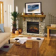 Rustic Fieldstone Flat-Wall Fireplace