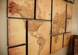 map of decor diy map art meets church display bobbleheadbaby map decor wall