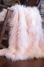 Long Hair Faux Fur Throw Blanket