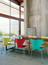 fancy colorful modern dining room with colorful modern dining room